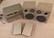 Vtg 1983 Sansui M7 Line Synthesizer, Integrated Amp Cassette Deck Speakers 7pcs