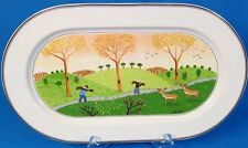 "Villeroy & Boch Design Naif Laplau Oval Serving Platter 15 1/4"" Wide"