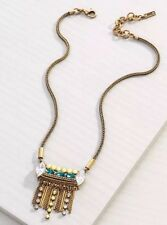 Brass Swarovski Crystal Resin ~Krn0066 Silpada K&R Neon Fringe Necklace~