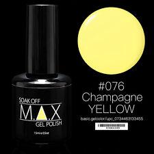 MAX 15ml Soak Off Gel Polonais Nail Art UV LED Couleur # 076 - Jaune Champagne