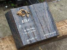 Liegestein Granit 50x40x8 cm Grabstein Grabplatte Gedenkstein Grabmal Urnenstein