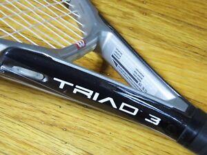 "NEW STRINGS Wilson Triad 3 AKA 3.2 115 T3 Racquet 4 3/8"" $249 Racket GD L 3 No"