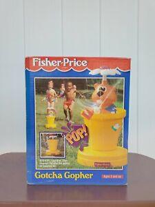 Vintage Fisher Price Gotcha Gopher Sprinkler Rare New Sealed