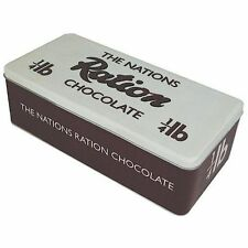 The Nations Ration Chocolate Vintage Style Retro Rectangular Lidded Storage Tin