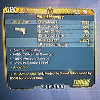 "Maliwan Takedown! ANOINTED ""Moonfire"" Legendary Pistol - Borderlands 3 (PS4)"