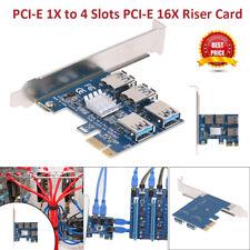 PCI-E Express 1X to 4 Slots PCI-E 16X Extender Riser Card External Adapter Card