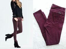 MISS ME Women's NWOT Mid-Rise Skinny Garnet Burgundy Jeans Size 26