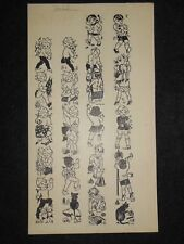 Original CLEM (Cecily Le Mesurier) Cartoon c1920s - Pixies, Elves and Children