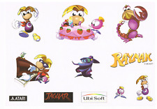 Atari Jaguar - Rayman Stickers And Card A Must have For Your Collection