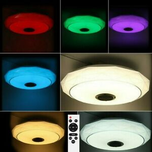 64W RGB LED Deckenlampe & Bluetooth Musik Lautsprecher Dimmbar App Fernbedienung