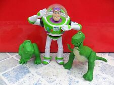 """Disney - Toy Story  - Buzz Lightyear (3"""" High) And 2 X Rex - Used/Played With"""