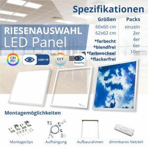 LED Panel 62x62 60x60 UGR19 LED Wolkenpanel LED Rahmenpanel LED Farbwechselpanel
