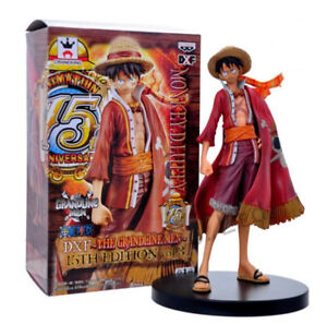 Anime  One Piece Monkey D. Luffy Straw Hat PVC Figure Statue 17cm