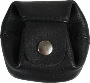 Cinino schwarze Leder Geldbörse Münzbörse Geldbeutel Kleingeldbörse Münzbeutel