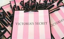 (20) VICTORIA'S SECRET PINK STRIPE MEDIUM SIZE PAPER SHOPPING GIFT BAGS
