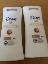 Lot of 2 Dove Advanced Care Anti-Perspirant, Shea Butter 2.6oz