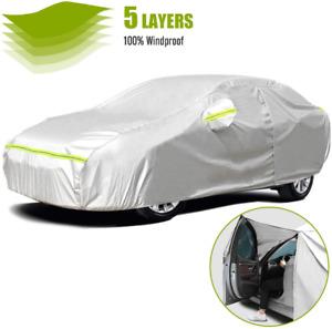 Car Cover Waterproof Sun UV Snow Dust Rain Resistant Protection For All Sedan