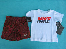 NIKE 2 PIECE SET NEW WITH TAGS SIZE 18 MONTHS BOTTOM GIRLS TOP SHORTS T-SHIRT DR