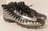 Nike ALPHA FASTFLEX Black/Silver Lace Up Low Top Football Cleats Men's Size 13
