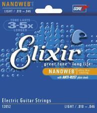 🔥 Elixir Nanoweb 10-46 Electric GUITAR STRINGS - Set of 6 Light 12052