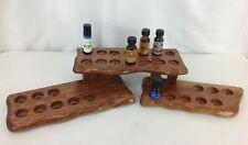 NEW Wood Display Essential Oil Nail Polish Perfume Bottle Holder Shelf Rack OOAK