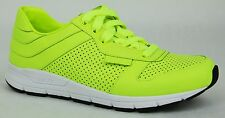 New Gucci Women's Neon Green Leather Sneakers Trainers 39G/US 9.5,369087 7102