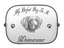 x1 Weimaraner Printed Dog Design Car Window Sun Shade by paws2print