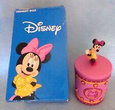 Disney Minnie Mouse Trinket Box * Girly Stuff * Reversible Minnie Or Knob Top
