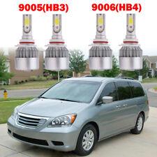 4PCS 9005 HB3 9006 HB4 LED Headlight Kit Bulbs For Honda Odyssey Toyota Camry