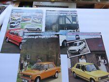 COLLECTIBLE (198X) YUGO/ Zastava UK Brochures (4) --   3/5; 45/55, 411/413