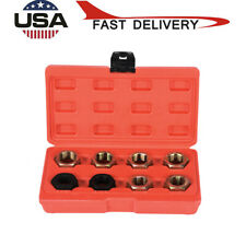 8Pcs Axle Spindle Fractional Metric Rethreading Set Kit Thread Repair Tool