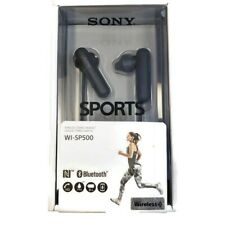 New SONY WI-SP500 Bluetooth Wireless Stereo Headset Earbud Headphones Black