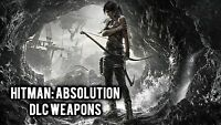 Tomb Raider - Hitman Absolution Weapons DLC Pack [Xbox 360, Live DLC] NEW