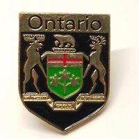 Coat of Arms of Ontario Crest Canada Souvenir Lapel Hat Tie Tack Pin    Heraldic