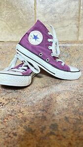 GIRL'S CONVERSE ALL STAR CHUCK TAYLOR HIGH TOP SNEAKERS-SIZE: 12