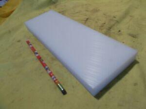 "NATURAL UHMW BAR machinable plastic flat sheet stock 1"" x 4"" x 12"" OAL"