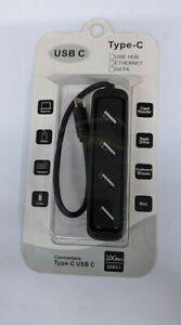 USB-C Male to USB 3.0 Type A 4 Port Hub USB 3.1 10Gbps Apple PC Chromebook
