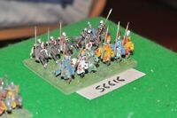 15mm medieval / english - men at arms 12 figs - cav (56616)