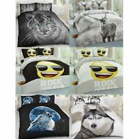 100% Polyester Luxury Duvet Cover Set Pillow Case Bedding Single Double King