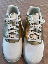 SAMPLE NEW BALANCE 1550 Revlite Mens sz 9.5 White/Gold walking/casual