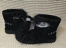 UGG CLASSIC MINI MONGOLIAN BOOTS,  US 8 Womens, BLACK