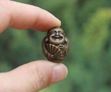3 Cm 100% Pure Bronze Chinese Folk Faith Wealth Fortune Maitreya Amulet Pendant