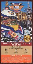 Ticket Nascar 1996 Atlanta Motor Speedway 11/10 Napa 500