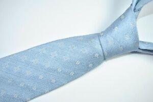 ISAIA NAPOLI 7 FOLD SEVEN FOLD Tie MADE IN ITALY 100% Silk Blue Color L62 W3.3