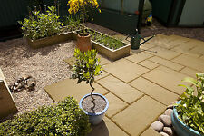 3 Size 5.63m² Riven Paving Slab Patio Pack Old Cotswold