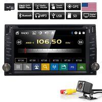 "Car 2 DIN 6.2"" DVD Player Bluetooth GPS SAT NAV FM Radio Stereo CD +Rear Camera"