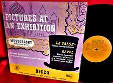 ANSERMET Mussorgsky Pictures at an Exhibition LP UK 1954 EX DECCA LXT 2896