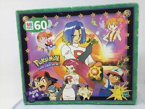 1999 Vintage 60 Piece Pokémon Puzzle Team Rocket Ash Misty James Jessie