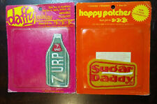 Vintage 1974 Daffy Happy Patches 7 URP & SUGAR DADDY Novelty Three Fish Inc. NEW