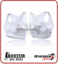 Boxeur des Rues Fight Activewear Top Donna inserti in rete Bianco S